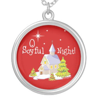 O Soyful Night Christmas necklace