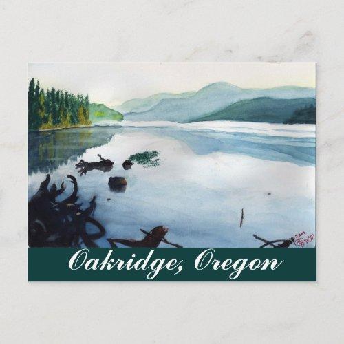 Oakridge Reservoir #2 postcard