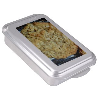 Oatmeal cookie cake pan