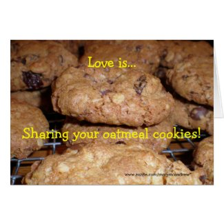 Oatmeal Cookie Recipe Card card