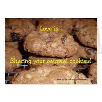 Oatmeal Cookie Recipe Card card