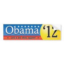 Obama '12 bumper sticker