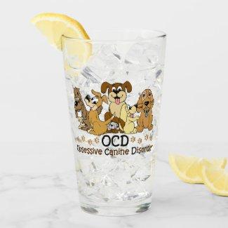 OCD Obsessive Canine Disorder Glass