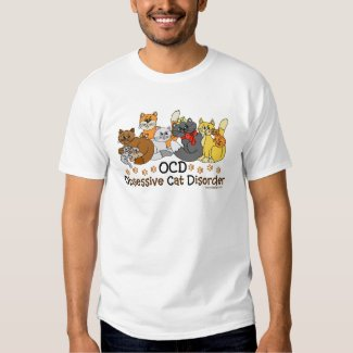 OCD Obsessive Cat Disorder T-Shirt