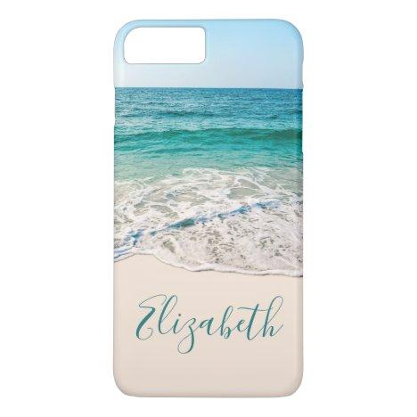 Ocean Beach Shore to Add Your Name iPhone 8 Plus/7 Plus Case