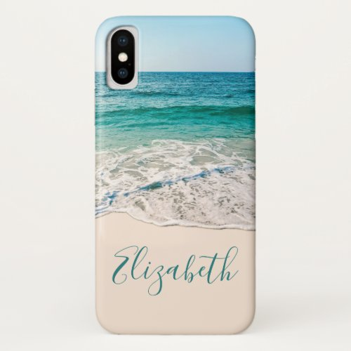 Ocean Beach Shore to Add Your Name iPhone X Case