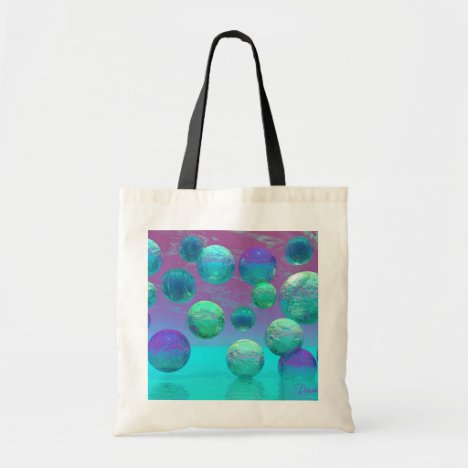 Ocean Dreams - Aqua and Violet Ocean Fantasy Tote Bag