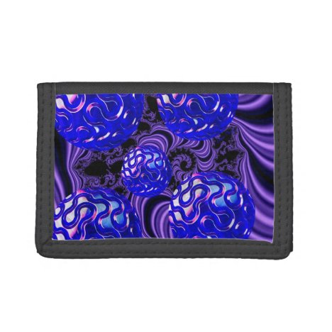 Ocean Pearls, Abstract Treasures from the Deep Tri-fold Wallet