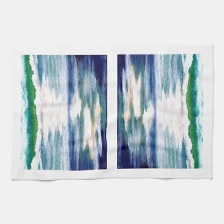 Ocean Reflections - cricketdiane dish towel design kitchentowel