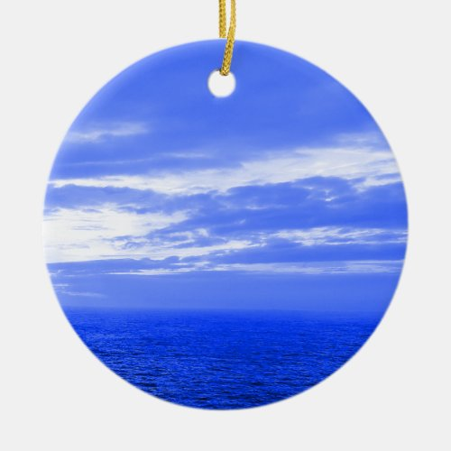 blue sky Christmas ornament