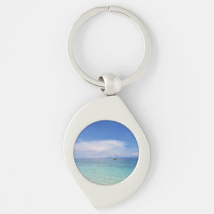 Ocean Swirl Keychain