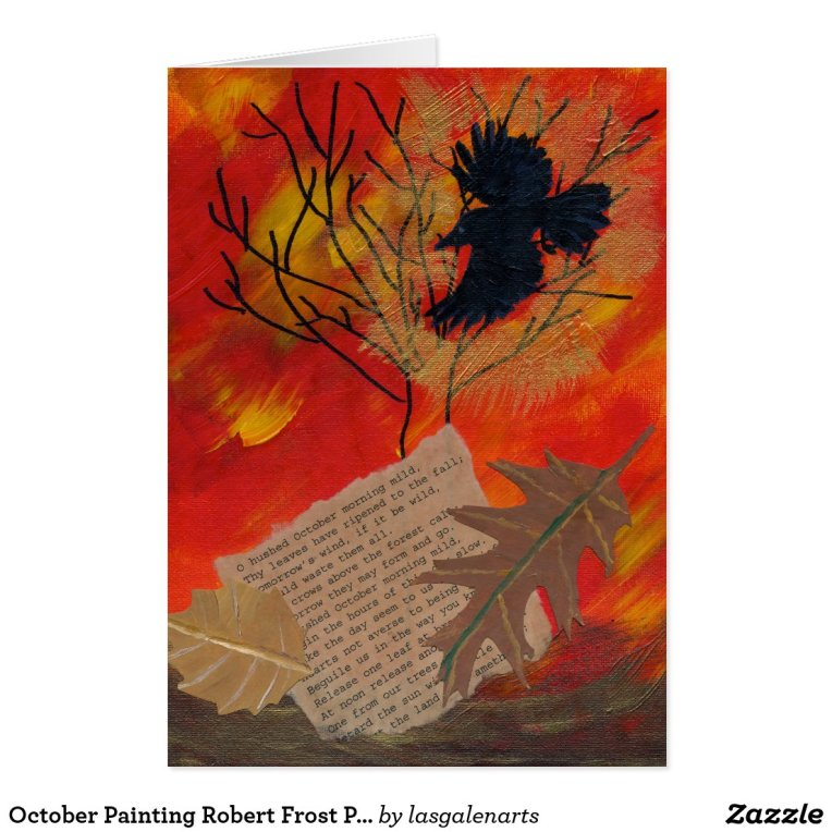 October Painting Robert Frost Poetry Card