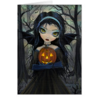 October Woods Vampire Big-Eye Halloween Card