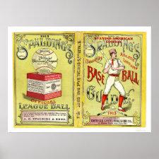Official Baseball Guide 1913 Poster