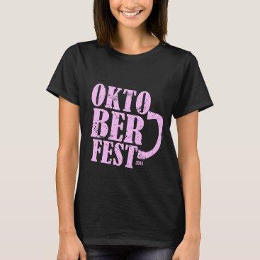 Oktoberfest 2014 - Pink distressed T-Shirt