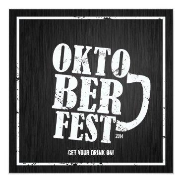 Oktoberfest 2014 - White distressed Invitation