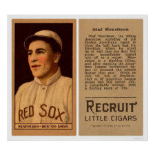 Olaf Henriksen Red Sox Baseball 1912 Posters