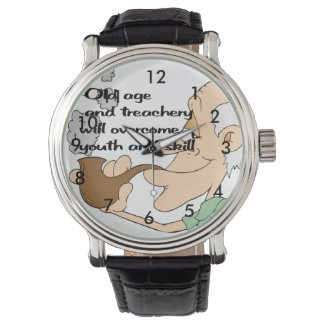 Old age and treachery wristwatch