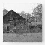 Old Country Home Square Wall Clock