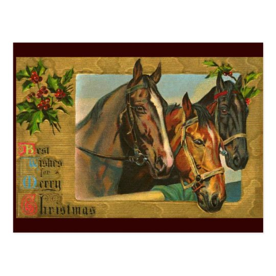 Old Fashioned Country Merry Christmas Postcard