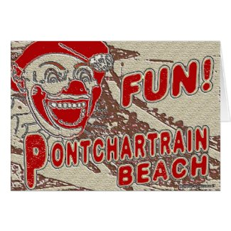 Old Style Pontchartrain Beach Sign card