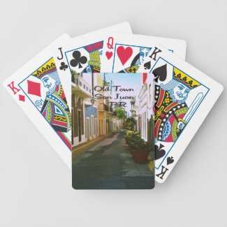Old Town San Juan Puerto Rico Bicycle Card Deck