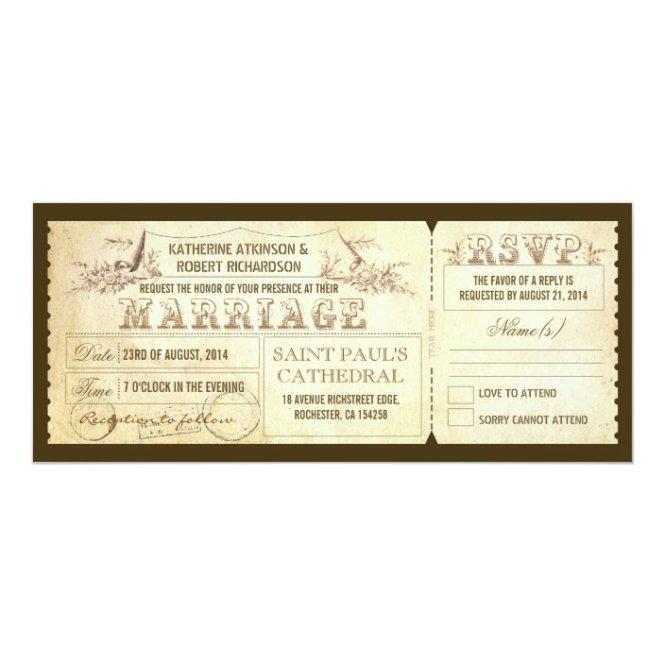 Old Vintage Wedding Invitations