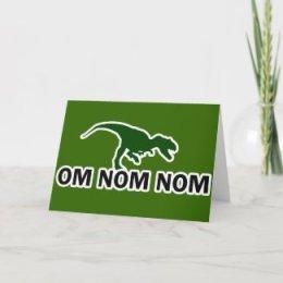 Anytime - Nom Nom Dinosaur Greeting Card