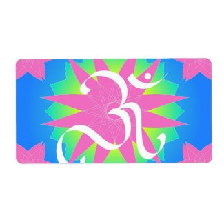 OM on lotus Personalized Shipping Label