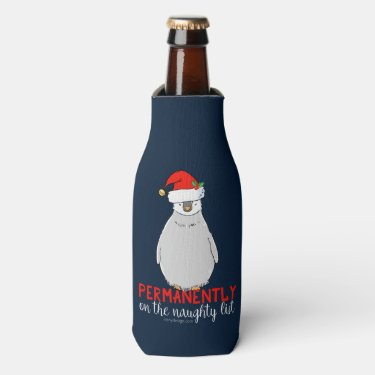 On The Naughty List Bottle Cooler