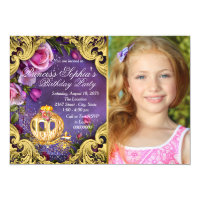 Once Upon A Time Fairytale Princess Birthday Party Card