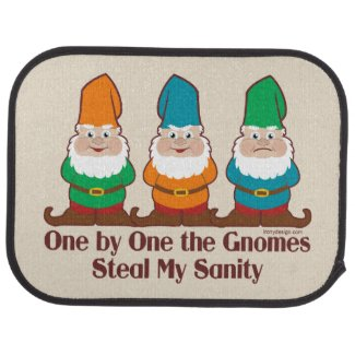 One by one the Gnomes Funny Design Car Mat