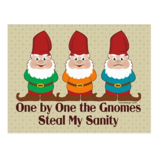 One By One The Gnomes Postcard