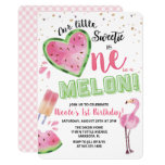 ❤️ One in a Melon Watermelon 1st Birthday Invitation