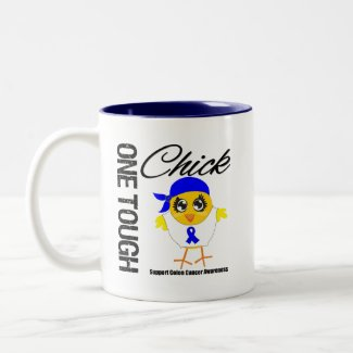 One Tough Chick Colon Cancer Warrior mug