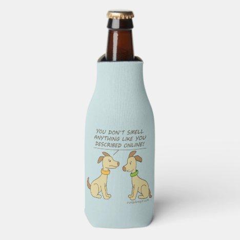 Online Dating Dog Humor Bottle Cooler