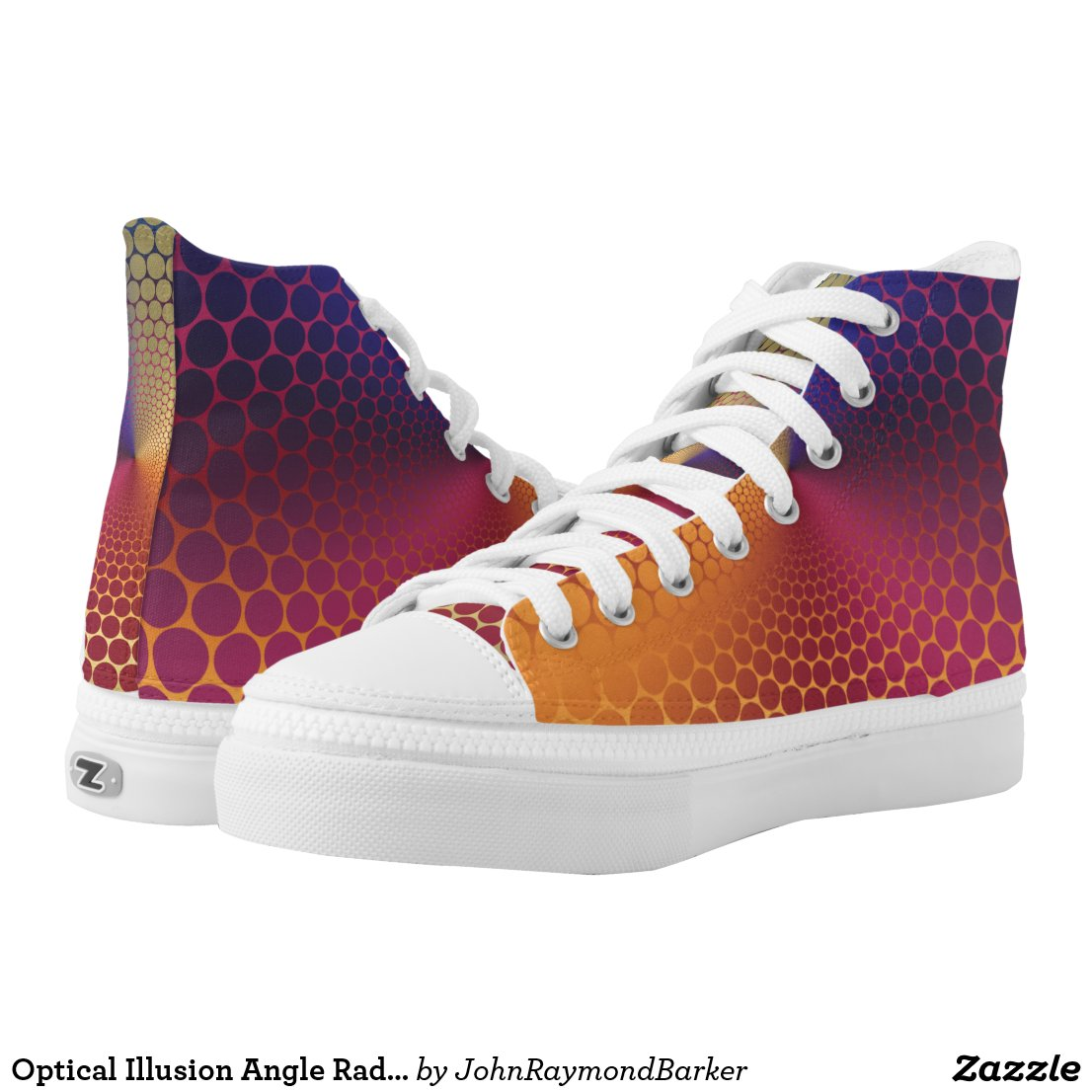 Optical Illusion Angle Radiant Gradient High-Top Sneakers