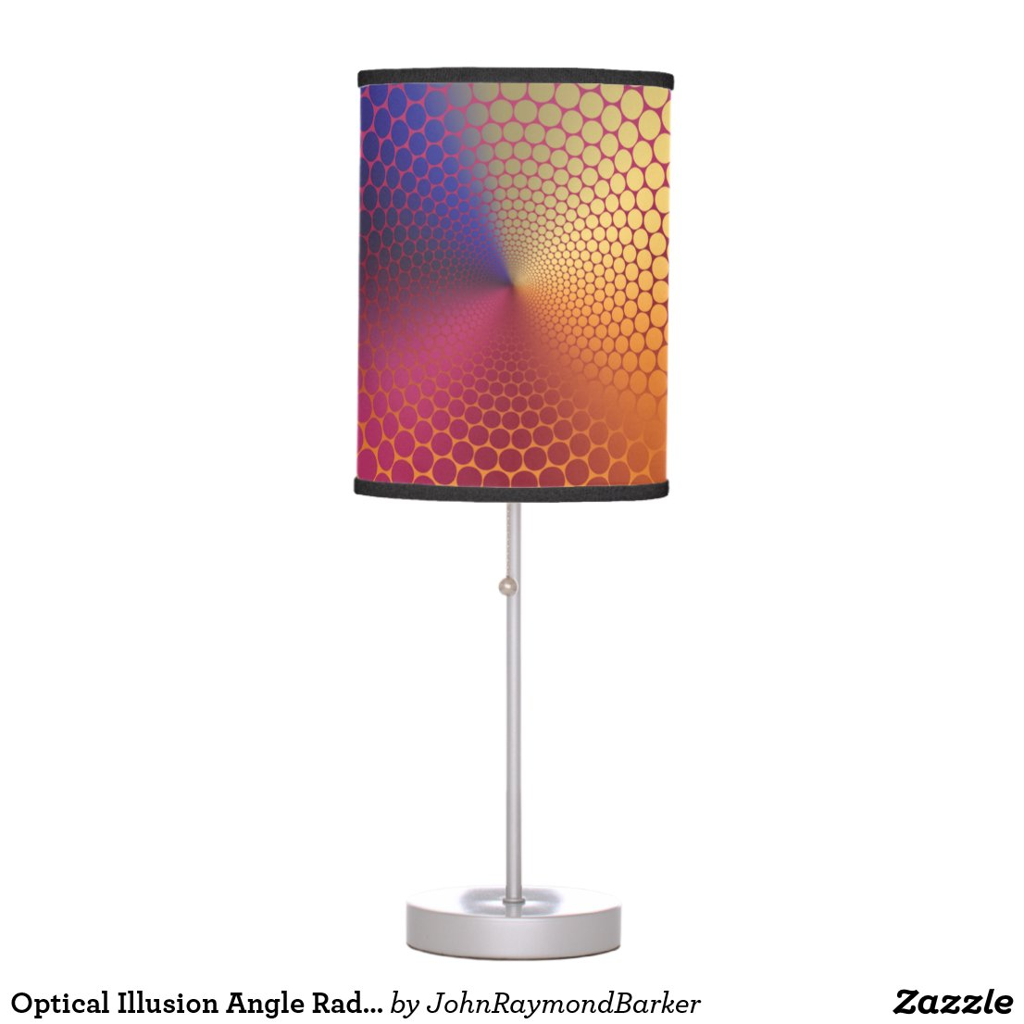 Optical Illusion Angle Radiant Gradient Table Lamp