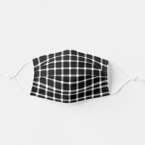Optical Illusion Design Disappearing Black Dots Cloth Face Mask