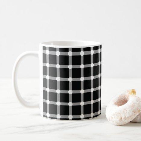 Optical Illusion Design Disappearing Black Dots Coffee Mug