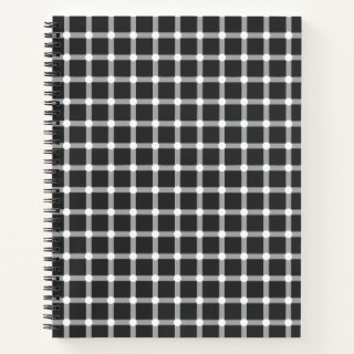 Optical Illusion Design Disappearing Black Dots Notebook