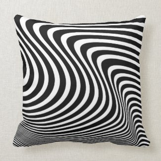 Optical Illusion Throw Pillows