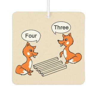 Optical illusion Trick Fox Car Air Freshener