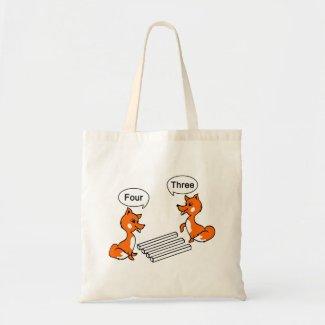 Optical illusion Trick Fox Tote Bag