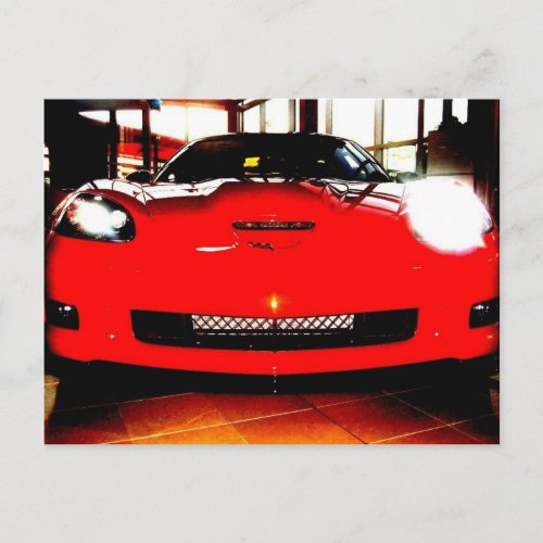 """Orange Corvette ZR1 3ZR postcard"""