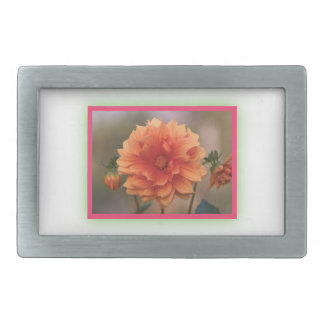 Orange Dahlia Belt Buckle