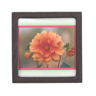 Orange Dahlia Premium Jewelry Boxes
