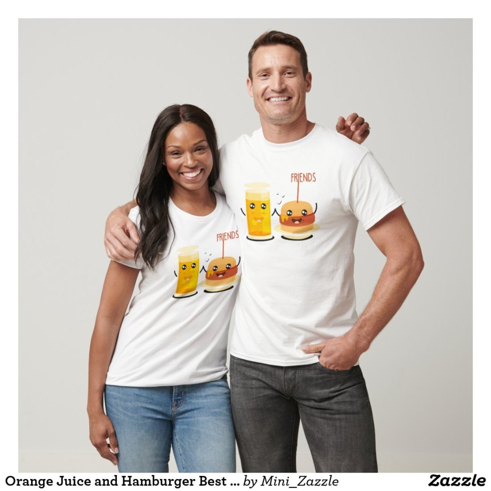 Orange Juice and Hamburger Best Friend T-Shirt