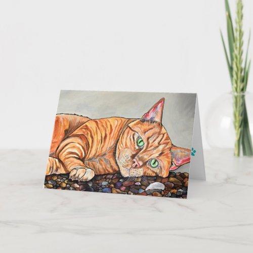 Orange Tabby Cat Greeting Card