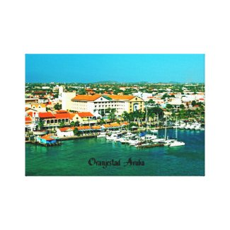 Oranjestad Aruba Gallery Wrap Canvas